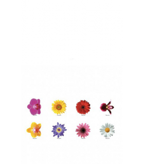 "Identificadores de copas mod. ""Flores"" (8 unidades)"