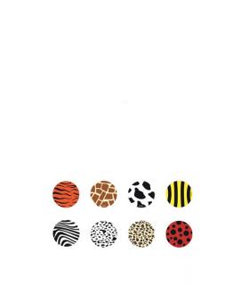 """Identificadores de copas mod. """"Animals"""" (6 unidades)"""