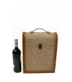 Hemp box for three bottles of wine