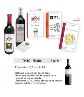 Vin étiquette personnalisée de Madrid