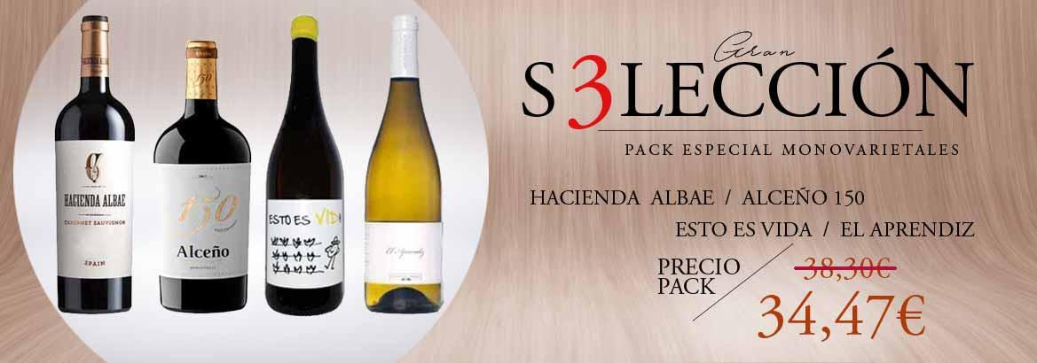 Pack vinos monovarietales